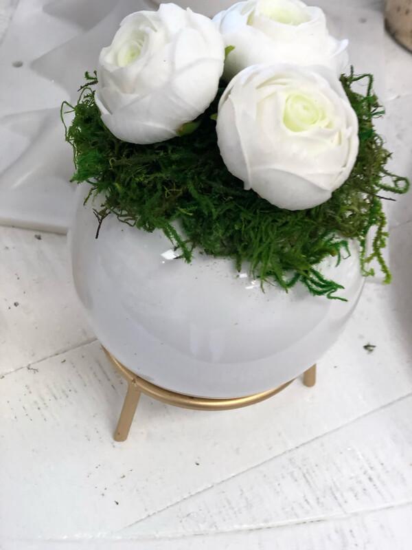 White Ball Greenery Bowl White