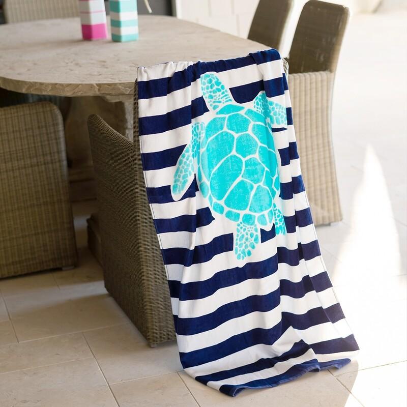 VL Towel Turtle Stripe