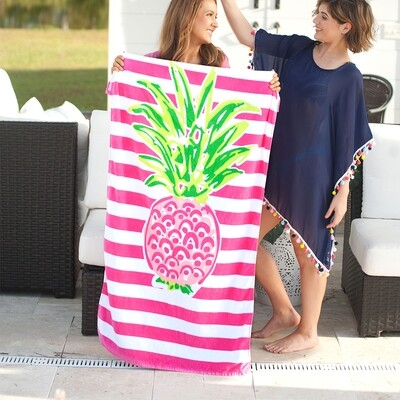 VL Towel Pineapple Stripe
