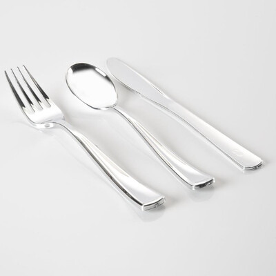 Luxe 36 Piece Cutlery Set Silver