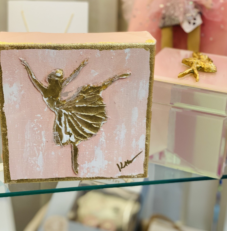 6x6 Ballerina Painting Pink/Gold