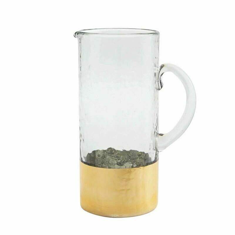 MP Gold Hammered Glass Pitcher