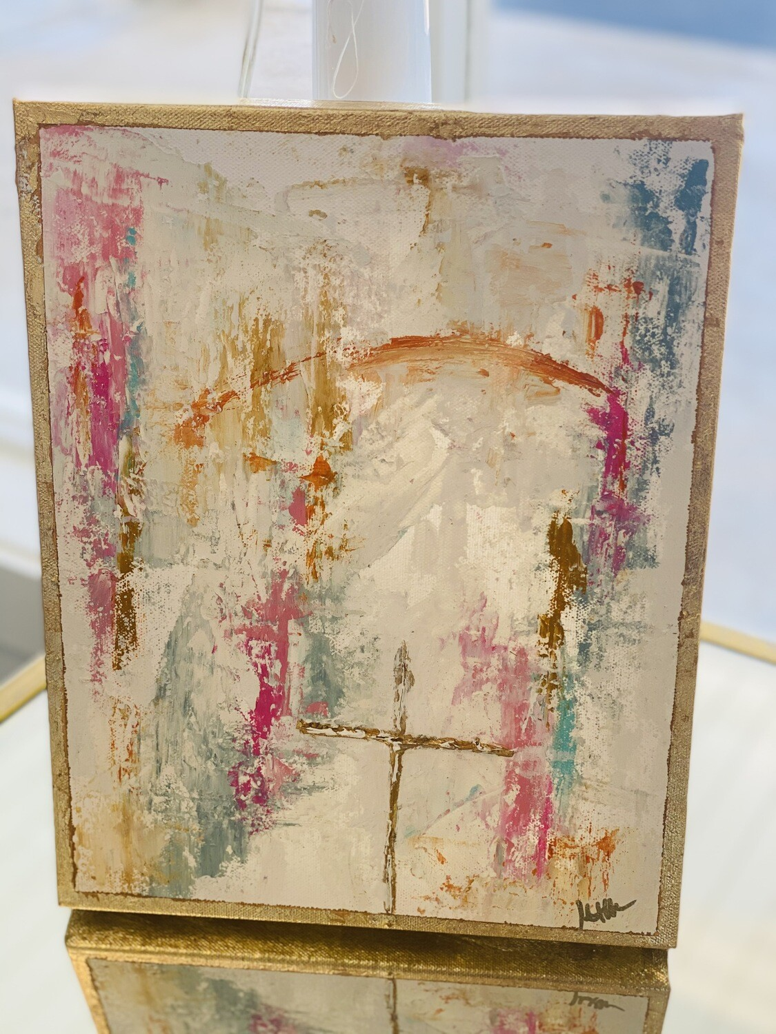 11x14 Abstract Cross Painting 1