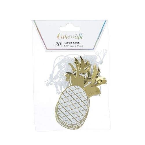 20 Gift Tags Pineapple