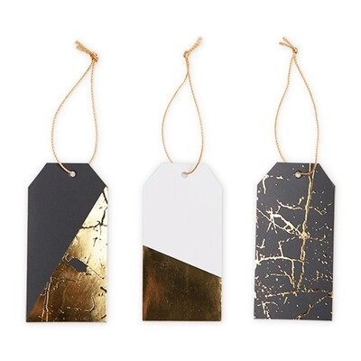 12 Gifts Tags Black/Gold