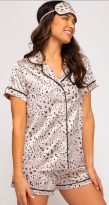 SS Serena Satin Pajama & Mask Set