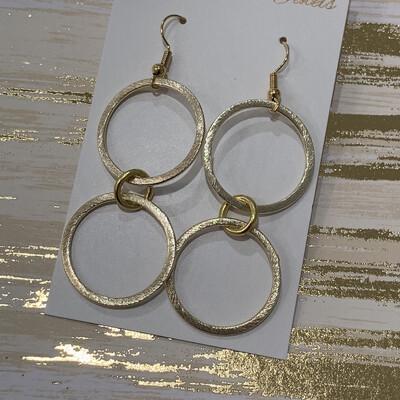 SJ Earrings Double Hoop Dangle