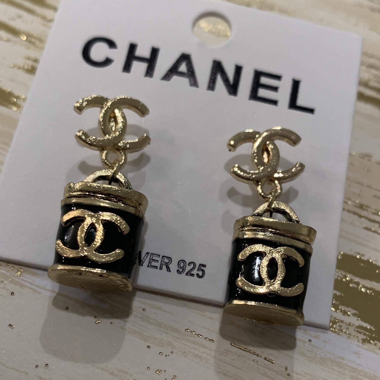 SJ Inspired Earrings Black Lock CC