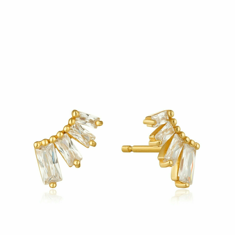 Ania Haie Glow Bar Stud Earrings Gold