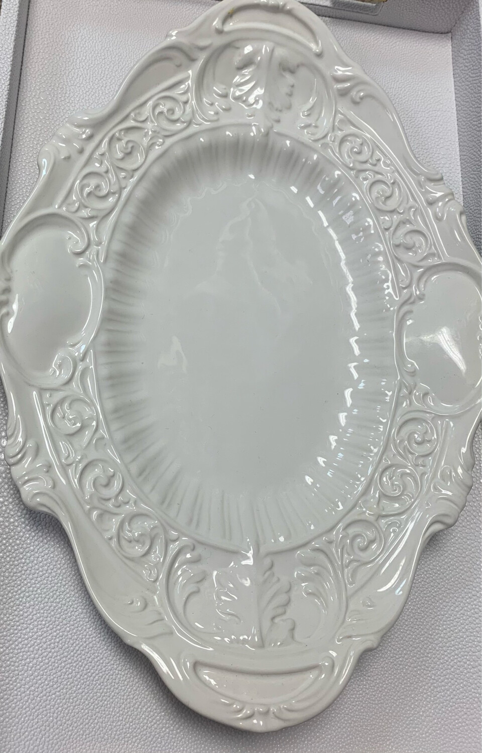 White Oval Serving Dish