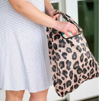 VL Reusable Bag Brown Leopard