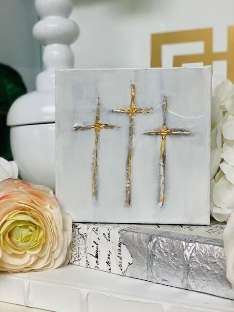 6x6 Painting Three Crosses
