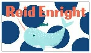 Custom Name Tags Whale