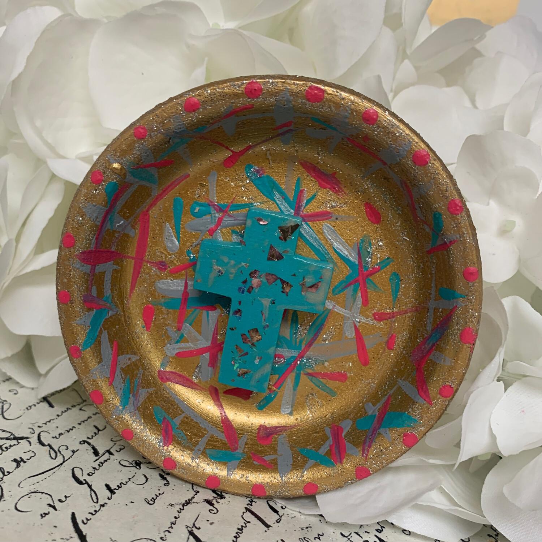Cross Confetti Trinket Dish 7
