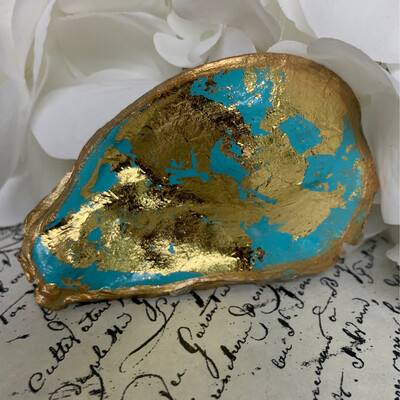 Painted Oyster Trinket 10