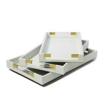 TH White/Acrylic Decorative Tray Large