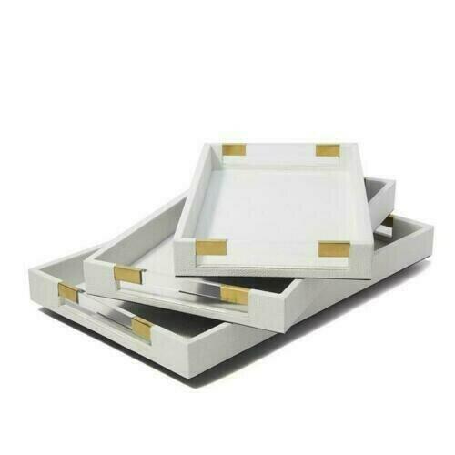 TH White/Acrylic Decorative Tray Small