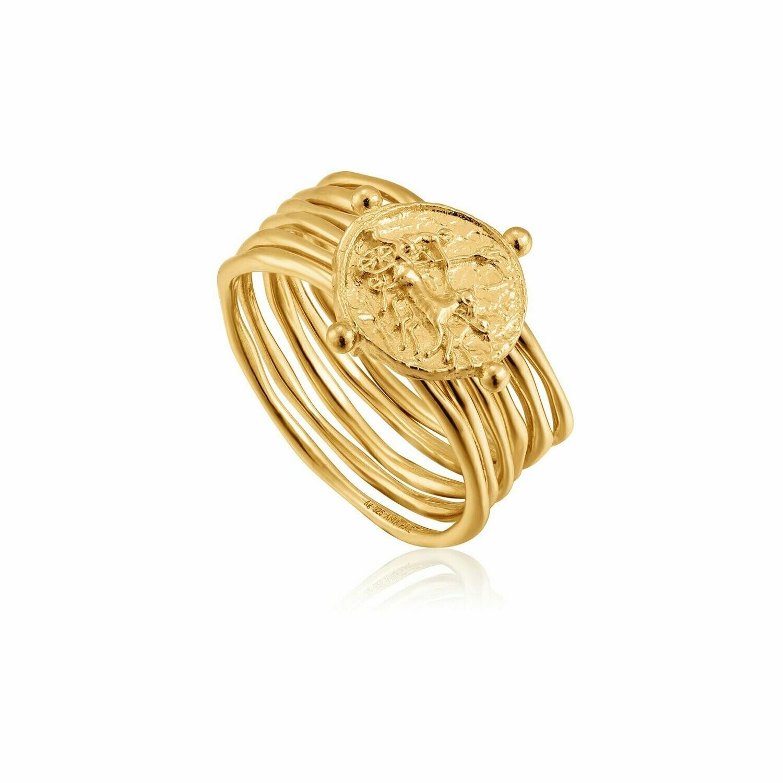 Ania Haie Apollo Ring Gold