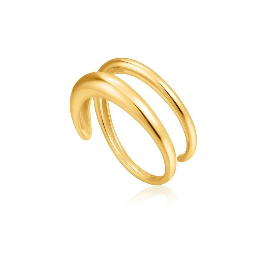 Ania Haie Luxe Twist Ring Gold