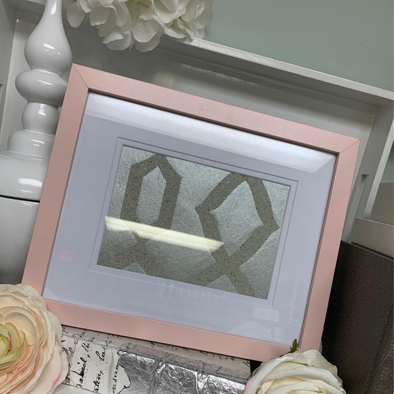 8x10 Designer Frame Pink