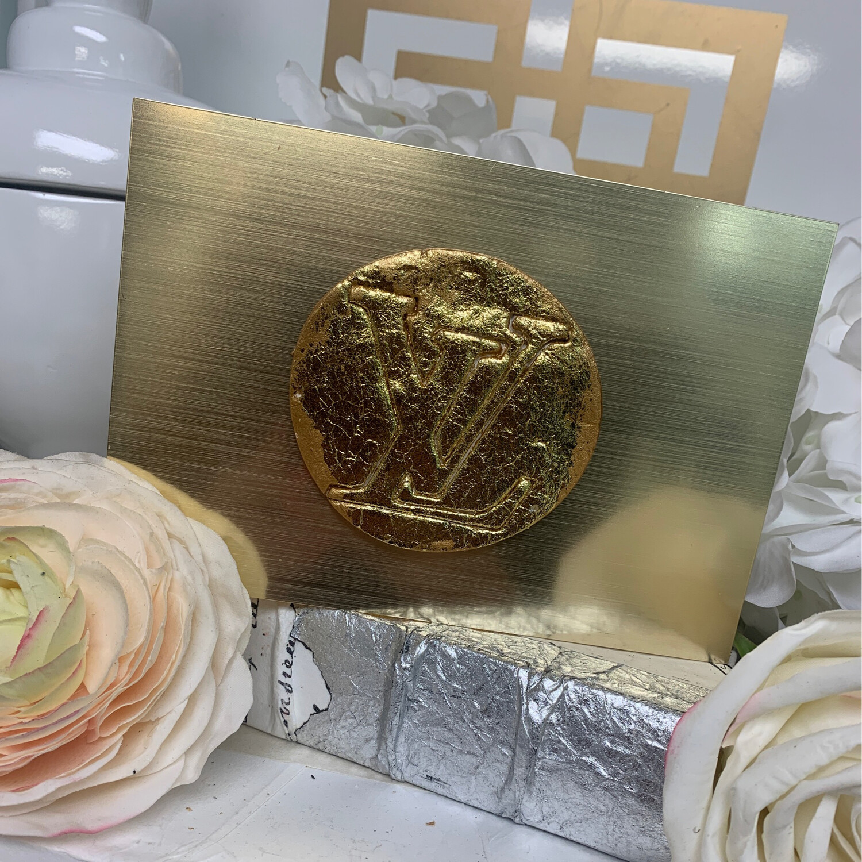 Acrylic Designer Gold Top Box Large LV