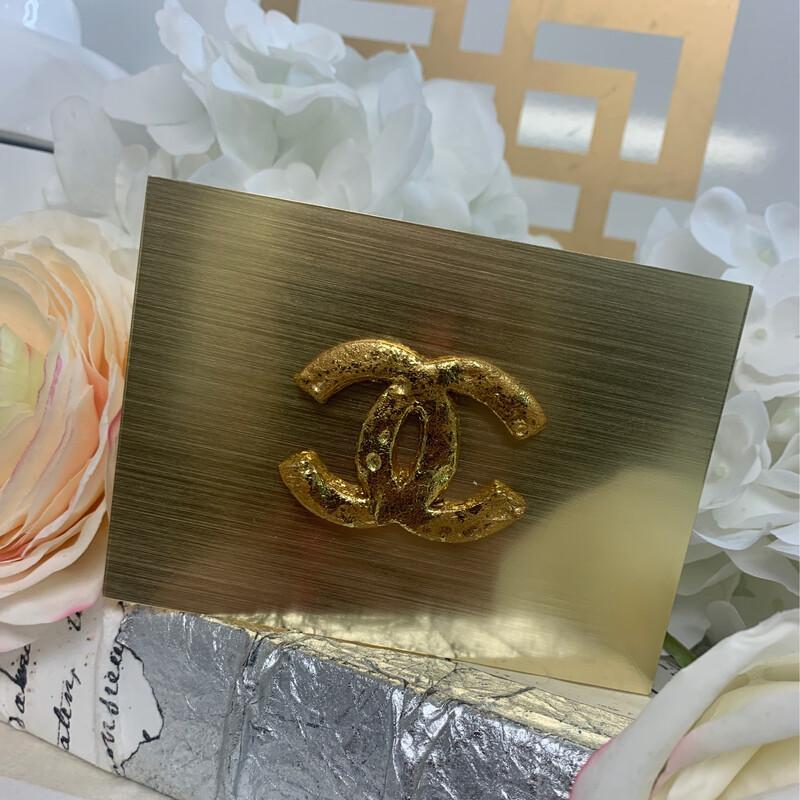 Acrylic Designer Gold Top Small CC