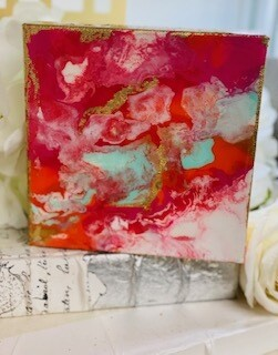 6x6 Abstract Painting Summer Vibes