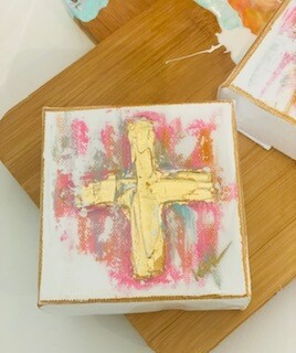 4x4 Summer Thick Cross Painting
