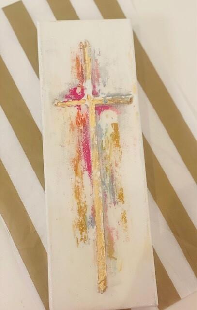 4x12 Summer Cross Painting