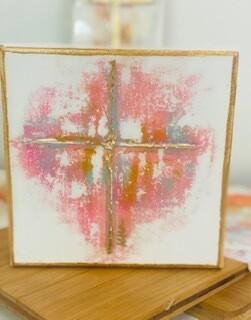 6x6 Summer Cross Painting