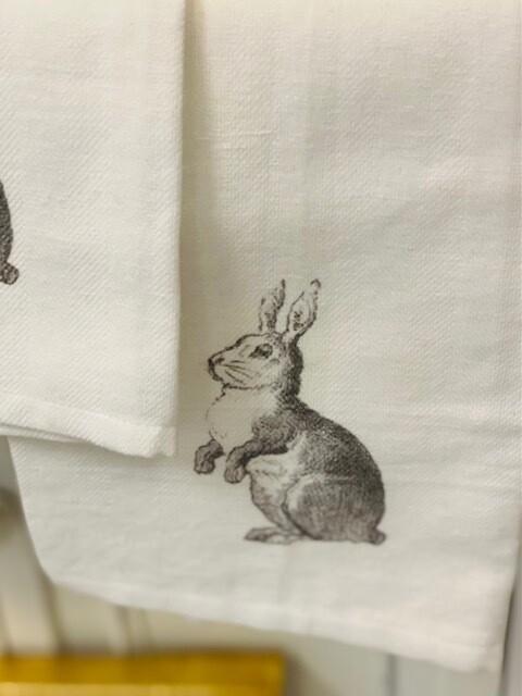 FG Cotton Towel Grey Bunny