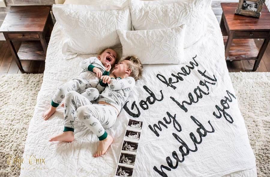 Organic Swaddle Blanket- God knew my heart