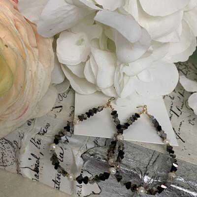 SJ Earrings Beaded Teardrops