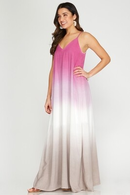 SS Ombre Dyed Cami Maxi Dress