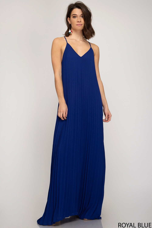 SS Sadie Pleated Maxi Dress