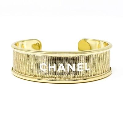 Designer Ribbon Cuff - Gold Chanel