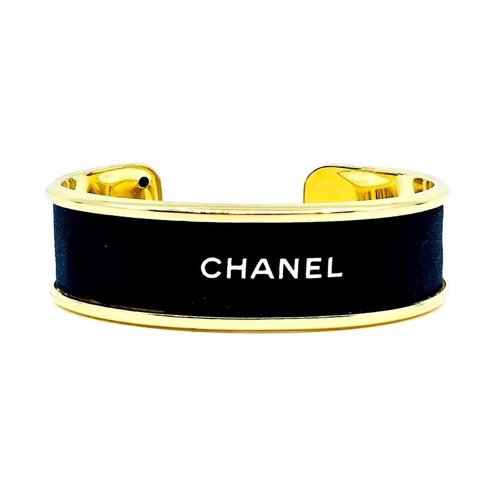 Designer Ribbon Cuff Black Chanel