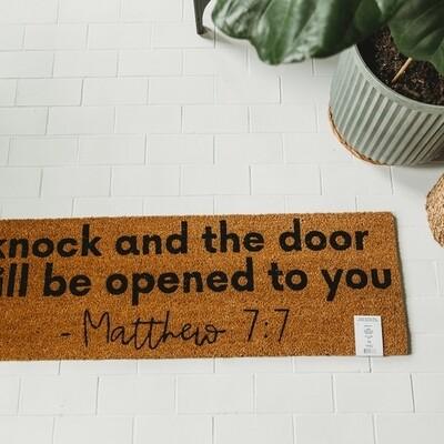XL Doormat - Matthew 7:7