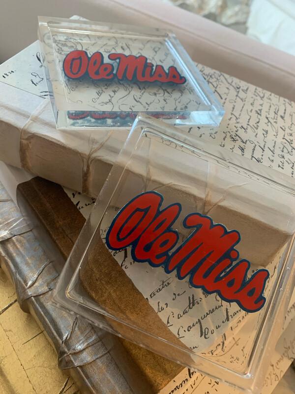 Acrylic Coaster Ole Miss