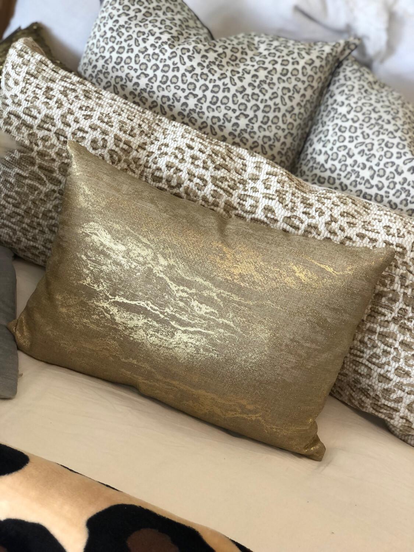 Gold Glisten Throw Pillow