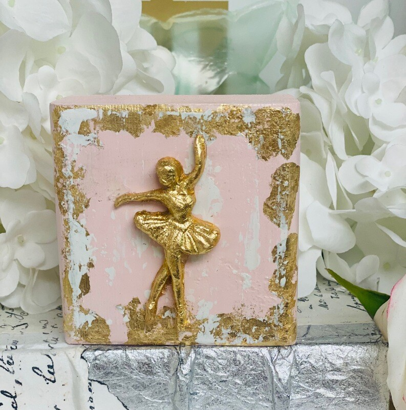 4x4 Wood Block Ballerina Pink