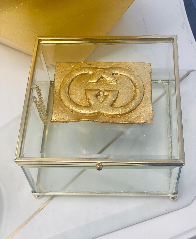 Designer Jewelry Box Clear GG