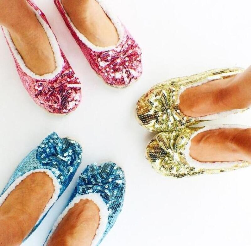Snoozie Ballet Sequin Slippers