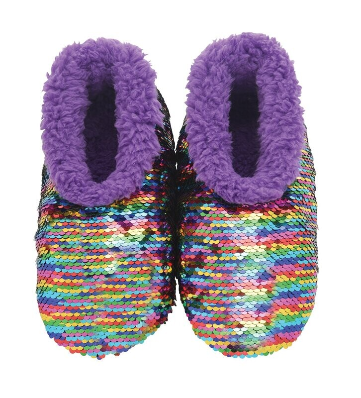 Snoozie Slippers Rainbow Small