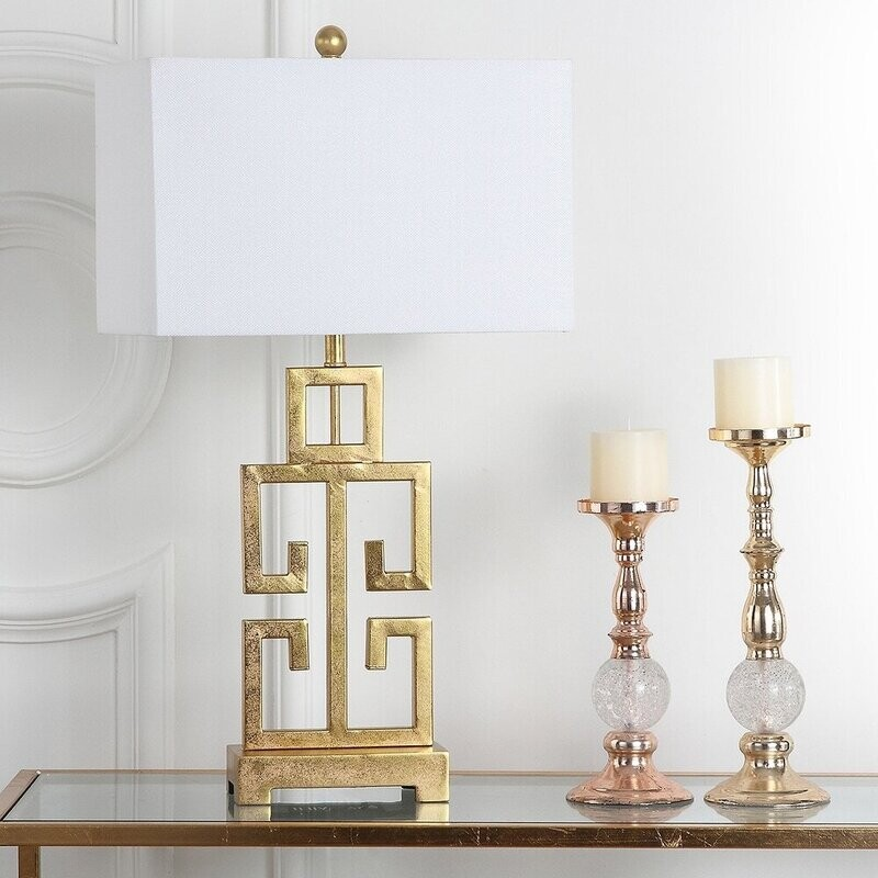 SA Lamp Gold Greek Key