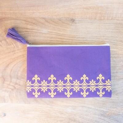 TRS Savannah Cosmetic Bag Purple/Gold