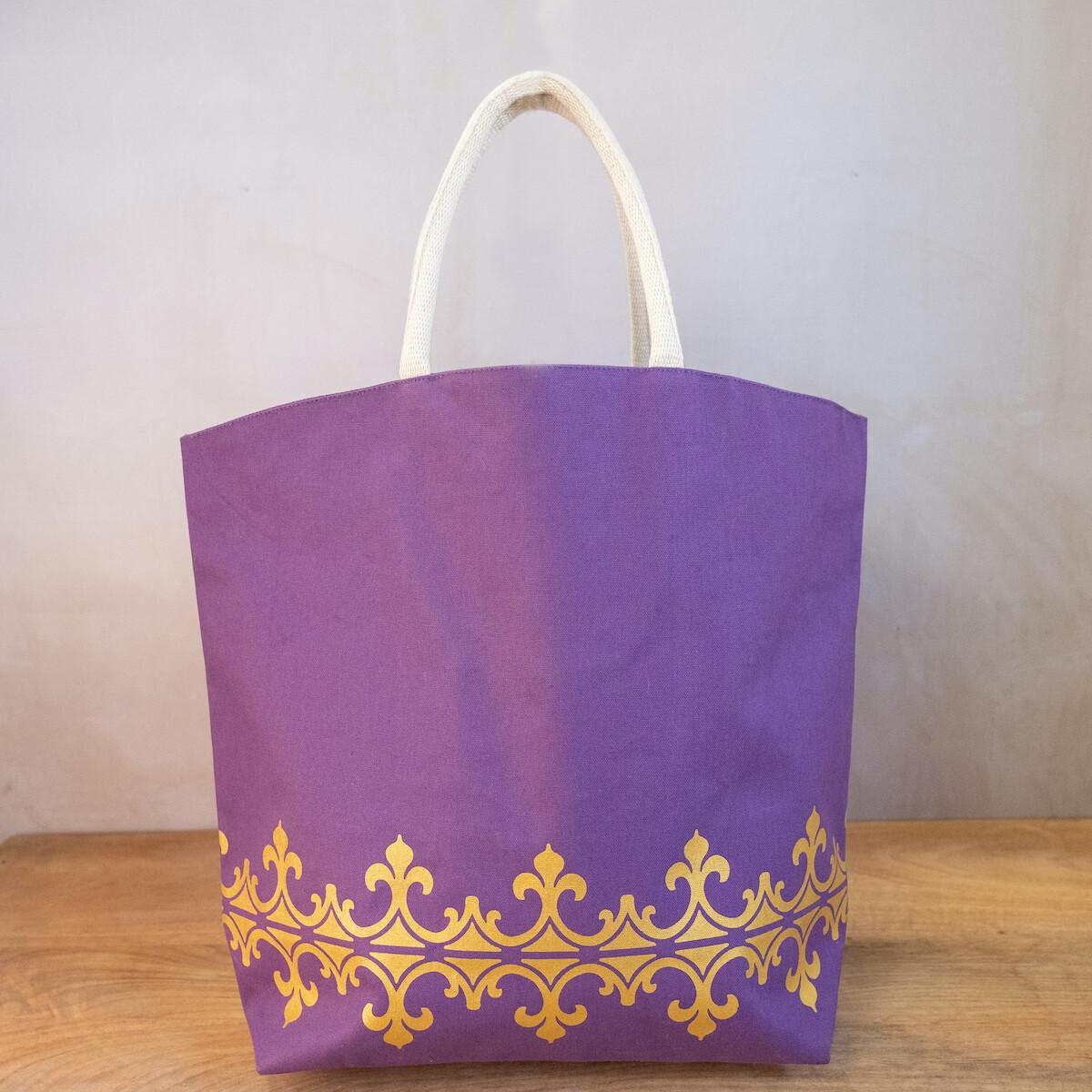 TRS Savannah Tote Purple/Gold