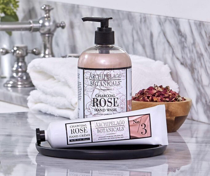 Archipelago Hand Wash Charcoal Rose