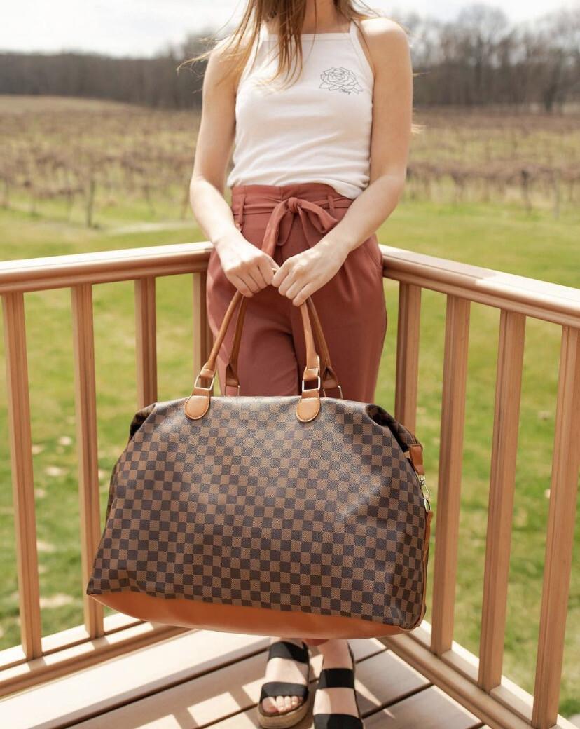 Weekender Bag Dark Check