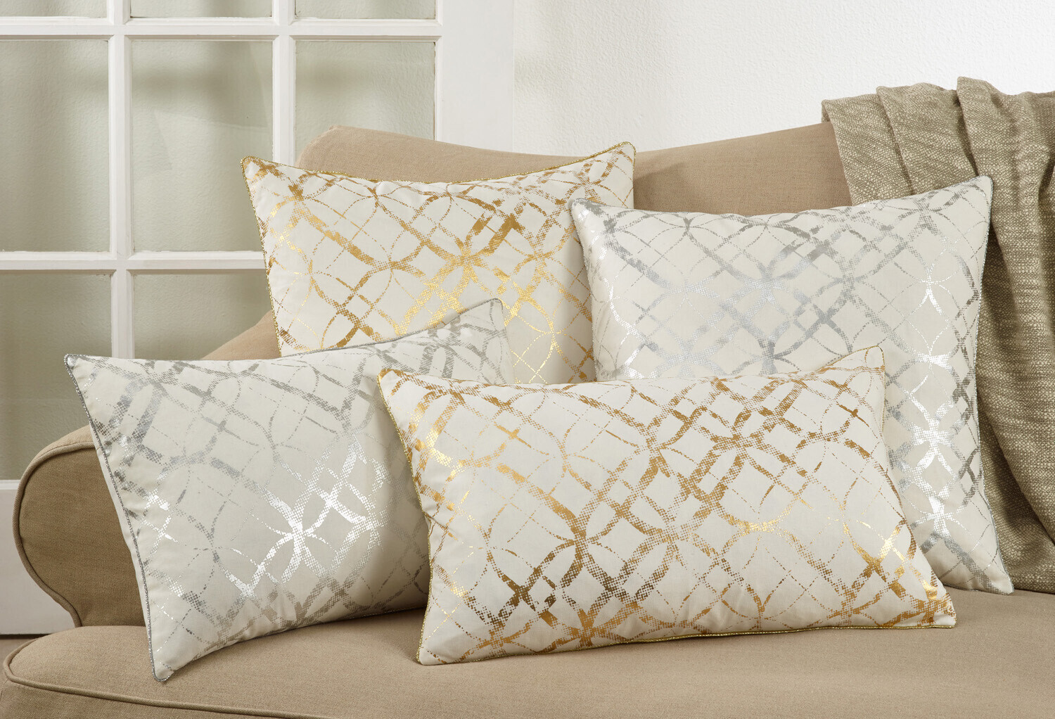 """SS 9283 20"""" Pillow Cover Silver"""